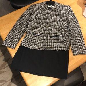 Jones New York Suit with Skirt & Belt